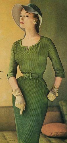 1950's Fashion Model, Jean Patchett by heidi.dee