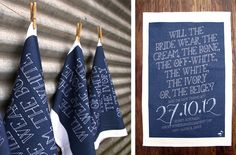 Save the date tea towels!
