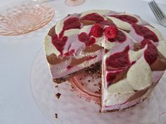 Fragrant Vanilla Cake: Raw Chocolate and Vanilla Raspberry Swirl Cheesecake