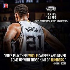 Spurs Tim Duncan stats in the Playoffs vs the Clippers. Go Spurs Go