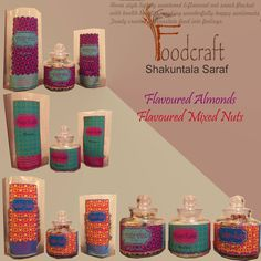 Flavoured Almonds and mixed nuts. Perfect gifting idea for Diwali !