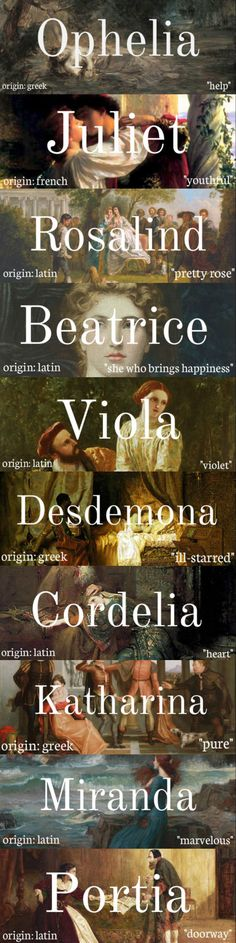 women of shakespeare + name meanings note: some of these names had multiple…