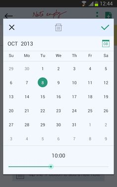 #App #Interface #UI #UX #design #JusWriteApp Date Picker Screen on #Android #redesign