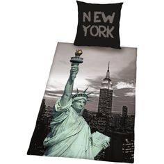 Pussilakanasetti - New York New York, My Room, Statue Of Liberty, Poster, Material, Ideas, Cushion, Cotton, Statue Of Liberty Facts