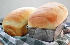 """This is the best sandwich bread I've ever made! """"Julia Child's White Sandwich Bread"""" Fluffy White Bread Recipe, Best White Bread Recipe, Light Airy Bread Recipe, 2 Loaf Bread Recipe, Bread Sandwich Recipes, White Bread Recipe With Milk, Kitchenaid Bread Recipe, Homemade Sandwich Bread, Yeast Bread Recipes"""