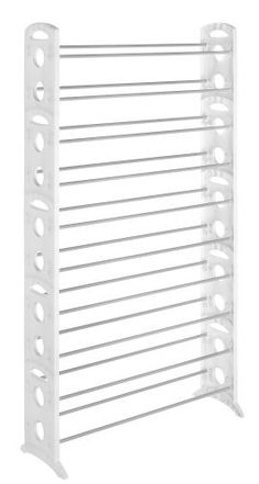 walk-in closet, need 2 50 pair, or 3 30 pair   Whitmor 6486-1917-WHT Floor Shoe Tower, White, 50-Pair by Whitmor, http://www.amazon.com/dp/B000LRFK6Q/ref=cm_sw_r_pi_dp_KA65qb1HG1GSZ