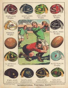 Rugby : a (small) tribute to the pioneers - Rugby History - Rugby Memorabilia Rugby Kit, Rugby Sport, Rugby Club, Rugby Images, Rugby Pictures, Rugby Poster, Rugby Coaching, France Rugby, Football Caps