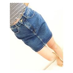 High-waisted denim mini skirt Zip up skirt in indigo denim that hits well above the knee and sits high on the waist☺️ Only wore couple of times; It was too big for me. No trade✖️But I do accept reasonable offers. American Apparel Skirts