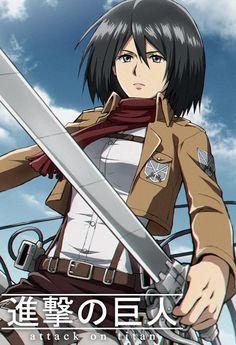 Fanart of Mikasa Ackerman from the anime Attack on Titan. Mikasa Anime, Aot Characters, Otaku, Attack On Titan Eren, Rivamika, Eremika, Anime Drawings Sketches, Animes Wallpapers, Armin