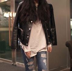 Leather jacket womenstyle