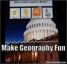make geography fun via @Stefanie Layton