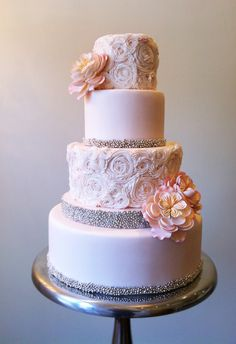 stunning Connie Cupcake buttercream roses wedding cake