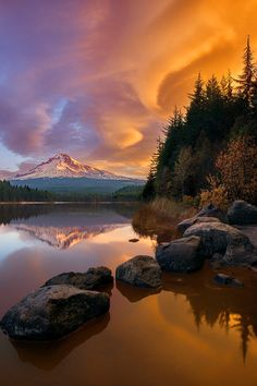 Mt.Hood by John Qu-Mount Hood, called Wy'east by the Multnomah tribe, is a stratovolcano in the Cascade Volcanic Arc of northern Oregon. It was formed by a subduction zone on the Pacific coast and rests in the Pacific Northwest region of the United States. It is located about 50 miles (80 km) east-southeast of Portland, on the border between Clackamas and Hood River counties.