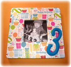 Happy 3rd Birthday Picture Frame Or Any Year by handmadebykrysten, $18.00