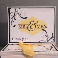 SU Mr. & Mrs. wedding thank you cards