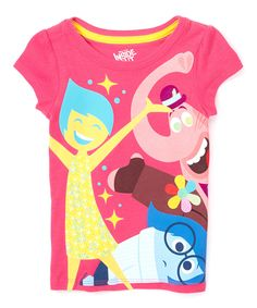 Look what I found on #zulily! Pink Inside Out Joy, Sadness & Bing Bong Tee - Girls by Inside Out #zulilyfinds