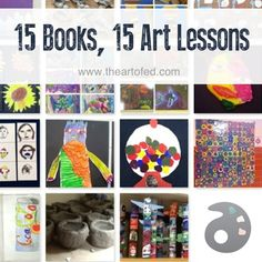 In addition to the books from that list, I've compiled a list of 15 more stories, which each pair with a specific lesson from my elementary curriculum. Of course, this doesn't even come close to the growing list of the fantastic books and series that can be used in the art room, but I hope it gets you started!