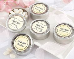 Personalized Round Candy Tin - Sweet as can Bee Collection (Set of 12)