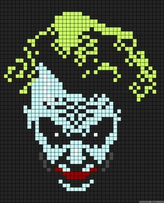 The Joker Perler Bead Pattern