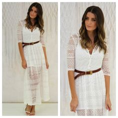 Cutest Maxi - The Shoreside Lace Maxi. Shop online at Willow and Kate. www.willowandkate.com.au
