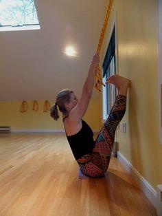 upavistha konasana  iyengar yoga rope forward bends