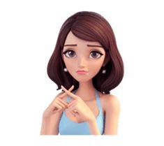 Summer by Yinxuan Li Dezarmenien sticker Emoji Pictures, Cute Cartoon Pictures, Cute Girl Photo, Girl Photo Poses, Animated Emojis, Girl Cartoon Characters, Girl Emoji, Cartoon Quotes, Cute Girl Drawing