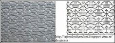 PATRONES - CROCHET - GANCHILLO - GRAFICOS: MAS PUNTOS TEJIDOS A CROCHET PARA LA COLECCION