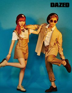 Sibling Duo Akdong Musician Poses for Dazed & Confused Magazine Lee Chan Hyuk, Lee Soo Hyun, Yg Entertaiment, Fun Family Photos, Couple Photos, Akdong Musician, Star Magazine, Cool Poses, Fandom