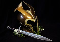 Elven helmet and Sting....