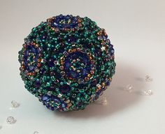 Peacock Beaded Orb by RoyalJDesigns on Etsy