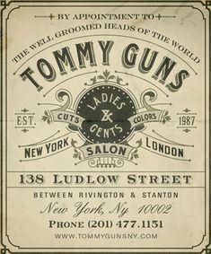 vintage designs, guns, business cards, tommi gun, dreams, layout, gangsters, fonts, letterhead