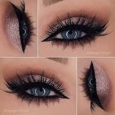 Image result for flawless makeup eyes and lips black