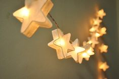 White mulberry paper Stars Lanterns for wedding party by ginew, $15.50