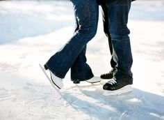 Ice rink - First Kiss and Wedding Proposal