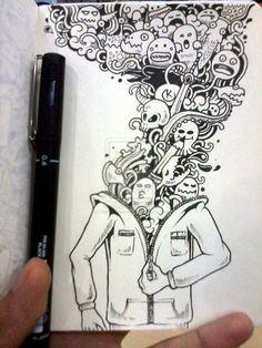 DOODLE ART: Inside Me by kerbyrosanes.deviantart.com on @deviantART