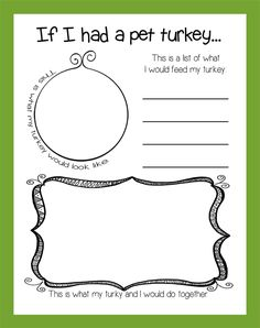 If I Had A Pet Turkey... | Thanksgiving Activity & Bulletin Board