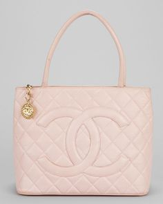 Chanel Pink Caviar Leather Classic Medallion Tote