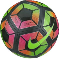 c58d38b9e4a05 Nike Strike Premium Soccer Ball (Metallic Black Total Crimson Black)