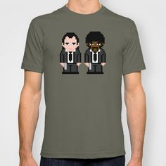 Pixel Pulp Fiction Characters T-shirt by PixelPower - $18.00