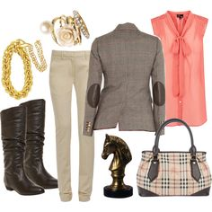Equestrian inspired look for a cool, spring day.