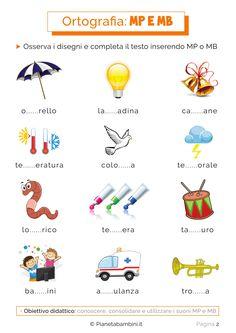 Schede didattiche su mp e mb da stampare bambini della for Mp mb scuola primaria