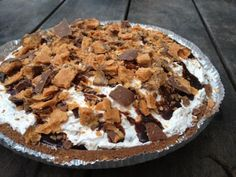 Butterfinger Pie #recipe #food #dessert