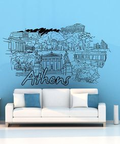 Vinyl Wall Decal Sticker Athens #1397 | Stickerbrand wall art decals, wall graphics and wall murals.