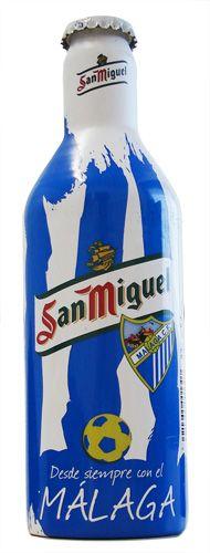 Latas y botellas de Cerveza de futbol