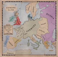 An alternate Europe 1935 map. DoD Europe by Alt-Reality on deviantART