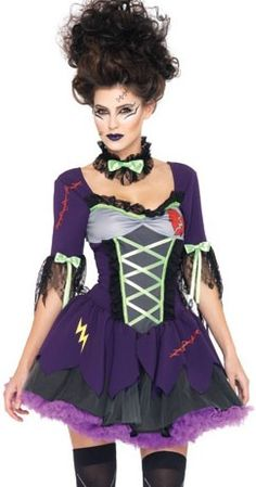 Buy this women's sexy Frankie's Bride Halloween fancy dress costume online now at Heaven Costumes Australia. Women's bride of Frankenstein costume by Rubies perfect to make you stand out this Halloween. Women's Halloween costumes are in stock now. Gothic Halloween Costumes, Halloween Kostüm, Adult Costumes, Costumes For Women, Trendy Halloween, Scary Costumes, Movie Costumes, Spirit Halloween, Bride Of Frankenstein Costume