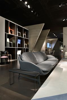 cassina stand at imm cologne cites modern architecture of le corbusier