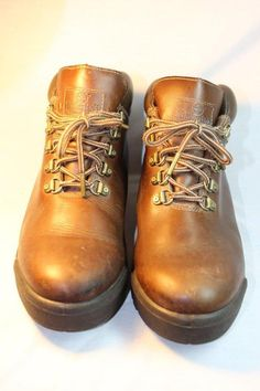 350bcc1d71512 Used Brown Timberland Work Hiking Boots Womens 8.5 Padded Ankle Quality  Leather  Timberland  AnkleBoots