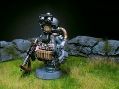Sci-Soldier with Pneumatic Power Fist Lego Custom Minifigures, Lego Minifigs, Legos, Lego Soldiers, Lego Guns, Lego People, Lego Mechs, Lego War, Black Hawk