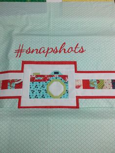 Snapshots Quilt-Along Mini Quilt. A monthly miniature version of Fat Quarter Shop's 2015 QAL, a fundraiser to support of St. Jude Children's Hospital.